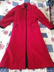 Пальто,женское , кашемир , цвет красный и подарю платье 3