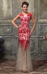 Красное вечернее платье 3
