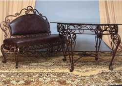 Элитная кованная мебель с элементами плазменной резки: кровати, диваны, столы, стулья 2