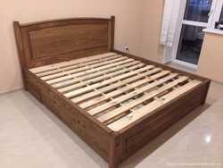Кровать деревянная с шухлядами 3