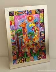 Витражная картина «Жизнь жирафов»