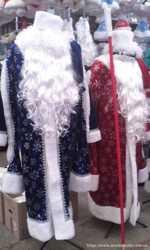 Дед мороз, мешок, парик, борода, снегурочка, коса, карнавальные костюмы. 2
