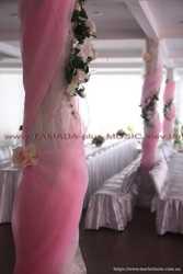 Свадебная арка, украшение банкетного зала, чехлы на стулья... 3
