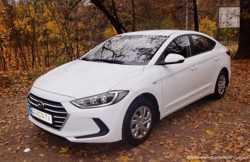 167 Hyundai Elantra 2018 белая аренда авто  3