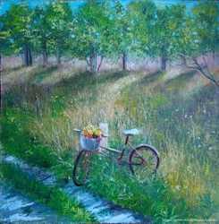 Картина маслом летний пейзаж