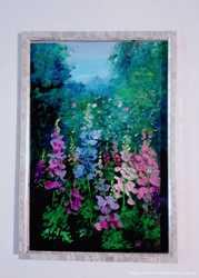 Картины маслом миниатюры авторские цветы пейзажи импрессионизм