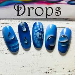 Трафарет для аэрографии на ногтях Капли