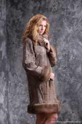 Пальто из каракульчи со съемной опушкой купить в Киеве Днепропетровске Одессе Харькове 3
