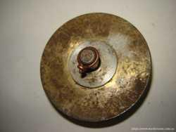 Шкив 75 мм для блока под трос или веревку стальной, с родной осью. 3