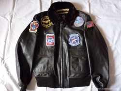 """Продам куртку мужскую кожаную """" top gun"""" G-1 1"""