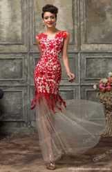 Красное вечернее платье 1