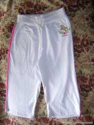 Бриджи белые, новые.  95 % - cotton,  5% - spandex. Размер 54-56  1