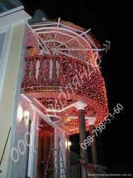 Новогодняя иллюминация,гирлянда светодиодная,новогодние украшения зданий 1