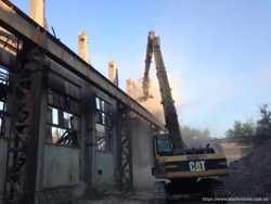 Промышленный демонтаж, разрушение бетонных и железобетонных конструкци
