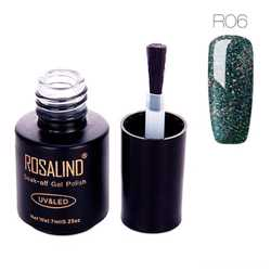 Гель-лак для ногтей маникюра 7мл Rosalind, шеллак, R06 космос