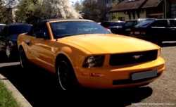 159 Кабриолет Ford Mustang GT оранжевый аренда 3