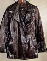 Замечательная кожаная лаковая куртка, M/L 1