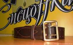 Ремни офицерские кожаные с латунной пряжкой