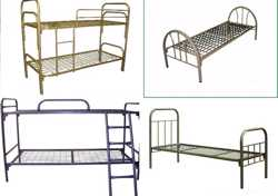 Кровати металлические,постельное белье.