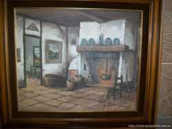 Картина мальована Біля каміна (4209) 3