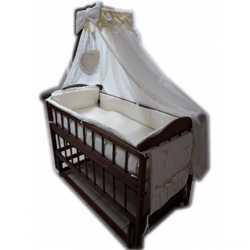 Сенсация! Кроватка маятник +постельное 8 элементов+ матрас кокос. New 1