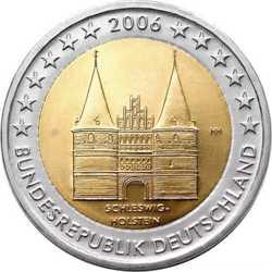 Германия 2 евро 2006 г. Шлезвиг-Гольштейн
