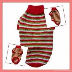 Теплый свитер для собаки Оранжевый полосатик
