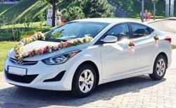168 Hyundai Elantra белая прокат авто 2
