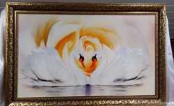 "Картина репродукция "" Лебеди"" 60х100 см."