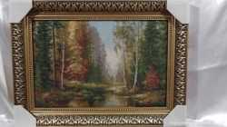 "Картина гобелен ""Озеро в лесу"""