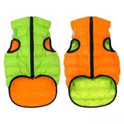 Двусторонняя курточка для собак Airy Vest cалатово-голубая S35, оранжеНет в наличии