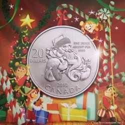 20 долларов, 2013, Санта Клаус. Канада. Серебро. Подарочная упаковка