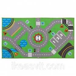 СТОРАБУ Ковер, зеленый, 75x133 см, 70356822, ИКЕА, IKEA, STORABO