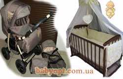 Акция! New. Все для малыша. Коляска, кроватка, матрас кокос,постельное