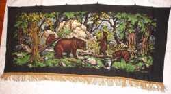 """Ковер/килим-картина """"Ведмеді"""" 148х70 см; настінний; раритет"""