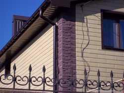 Облицовка и утепление фасада - сайдинг каменный Донрок.