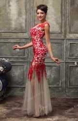Красное вечернее платье 2