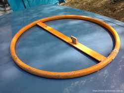Рычаг, круг, колесо переворота ёмкости бетономешалки. 2