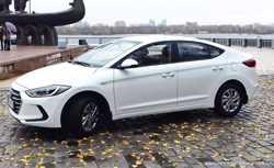 167 Hyundai Elantra 2018 белая аренда авто  2