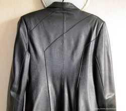 Кожаное женское пальто из натуральной кожи, M/L 3