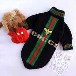 Вязаный свитер для собак