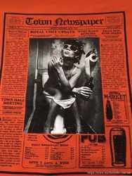 Футболка Sonny Bono p.48 (p.L). Газетка в стиле John Galliano. Италия.