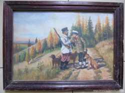 Картина Охотники