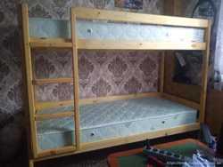 2 х-ярусная кровать из натурального дерева -2500грн 2