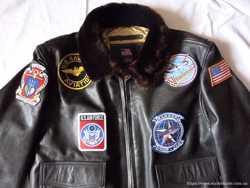 """Продам куртку мужскую кожаную """" top gun"""" G-1 2"""