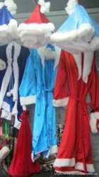 Дед мороз, мешок, парик, борода, снегурочка, коса, карнавальные костюмы. 3