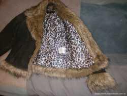 Куртка женская, кожа, натуральный мех 2