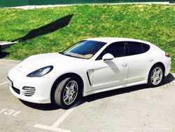 160 Porsche Panamera белая аренда на свадьбу 2