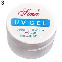 Гель для наращивания ногтей прозрачный лина lina УФ UV