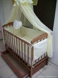 Акция! Набор: Кроватка с ящиком + матрас кокос + постельное 8эл. Новое.  3